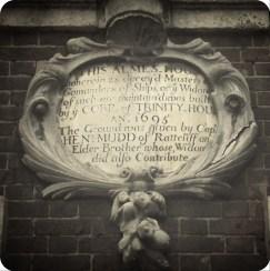 Trinity Almshouses Plaque