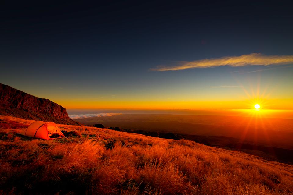 Taranaki west side sunset