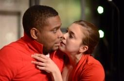 "Mike Smith (left) and Jenna Rossman perform in Single Carrot Theatre's ""Worst Case Scenario."" Credit: Britt Olsen-Ecker Photography"