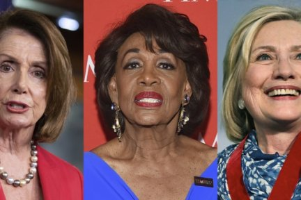 Image result for Nancy Pelosi, Hillary Clinton, Maxine Waters,