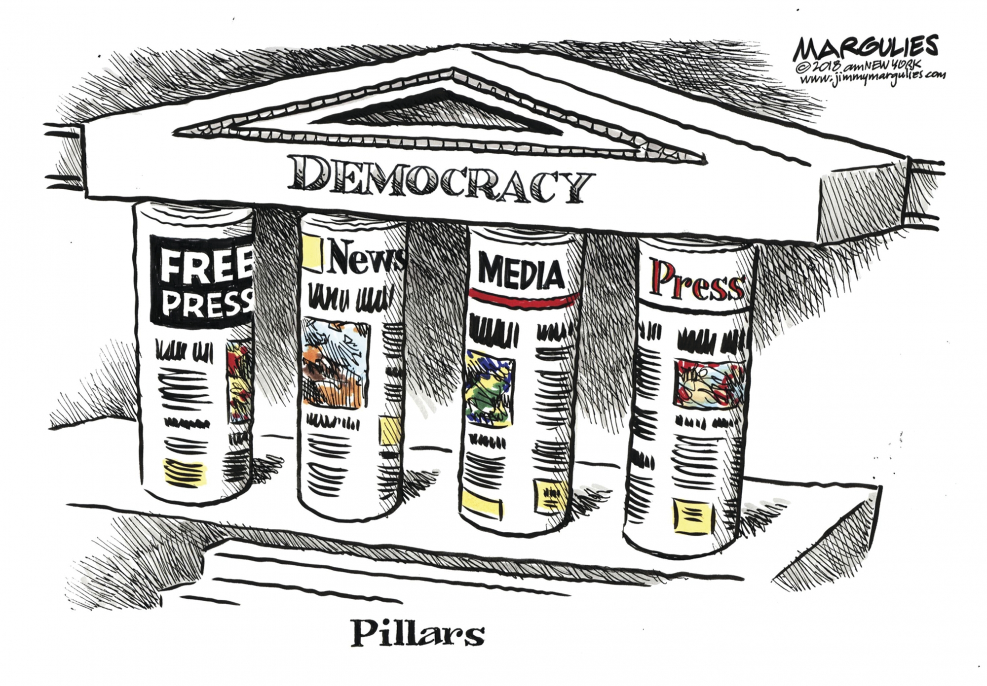 Exhibit Highlights Cartoonists Focus On First Amendment