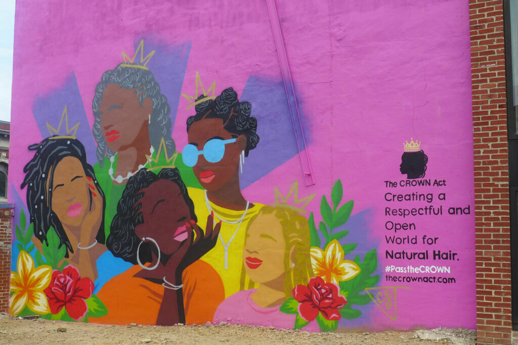 Mural unveiled in DC celebrates Black natural hairstyles