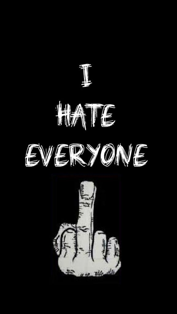 I hate everyone Middle finger attitude image download