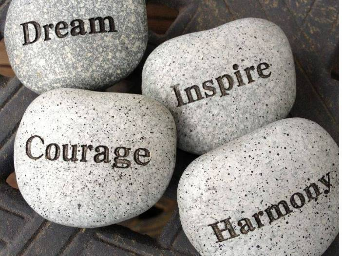 Dream courage inspire harmony whatsapp dp image