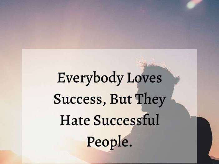 Everybody loves success whatsapp dp image