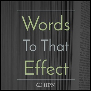 Words To That Effect Logo with Headstuff