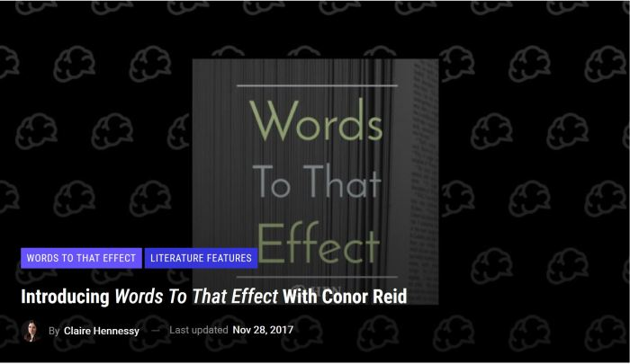 Interview Words To That Effect Reviews - claire hennessy interview