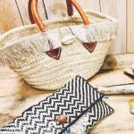 linen fringe basket bag 150x150 - WTW(ダブルティー)かごバッグ-シェル(貝)ボタン-