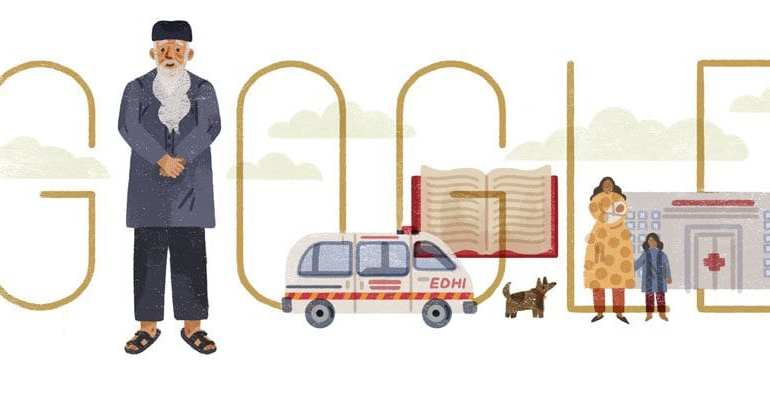 abdul sattar edhis 89th birthday google doodle - WTX News Breaking News, fashion & Culture from around the World - Daily News Briefings -Finance, Business, Politics & Sports