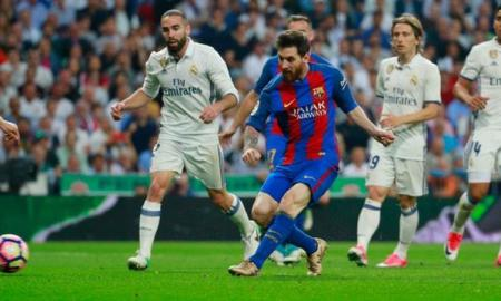 Messi 500th league goal against Real Madrid