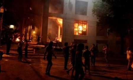 Protesting Re-Election Bill, Paraguayans Set Congress on Fire