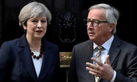 PM with Claude Juncker Following the Dinner meeting