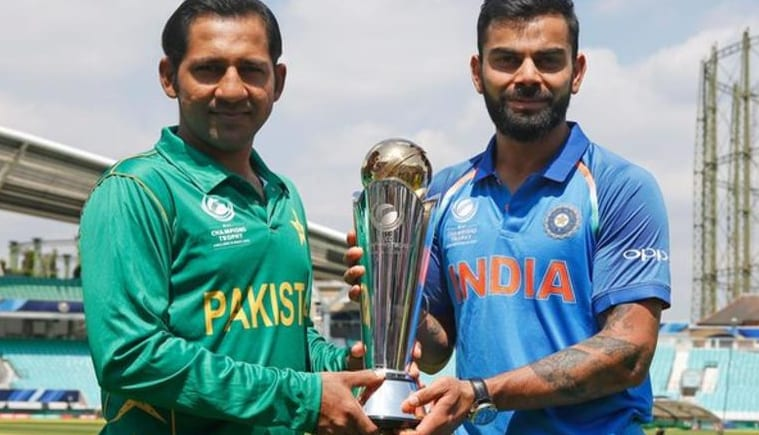 Pak v India Champions trophy final Sarfraz & Kohli
