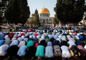 """Israel Imposed a shutdown of the mosque compound is known to Muslims as """"al-Haram al-Sharif"""" while Jews call it, """"Temple Mount""""."""