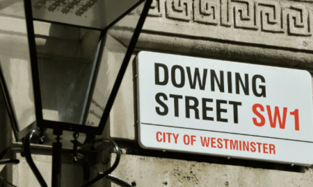 Downing Street in the London (SW1) - PM's residence and office