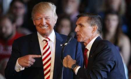 Donald Trump with Micheal Flynn, one of his most senior team members.