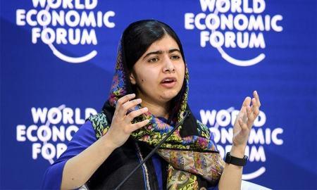 "The Pakistani born Nobel peace laureate Malala Yousafzai on Thursday urged women to ""change the world"""