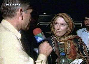 BRITISH JOURNALIST YVONNE RIDLEY IS RELEASED IN PAKISTAN FROM AFGHANISTAN
