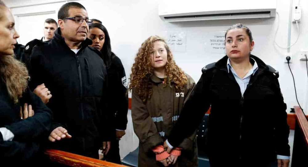 Palestinian teenager Ahed the little girl who slapped an Israeli soldier