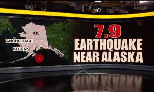 A 7.9 magnitude earthquake just hit of the coast of Alaska