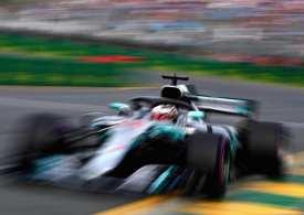 Lewis Breaks Lap record to take pole in Australian Grand Prix