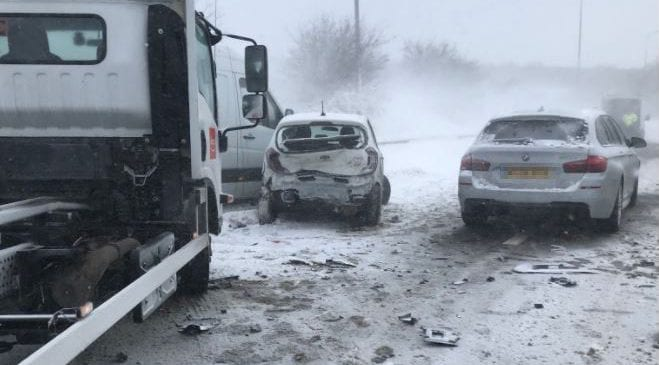 Breaking News: M66 Motorway closed after accident involving 16 vehicles
