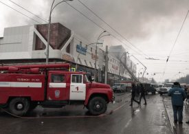 64 dead & bodies remain trapped under rubble after shopping mall fire in Russia