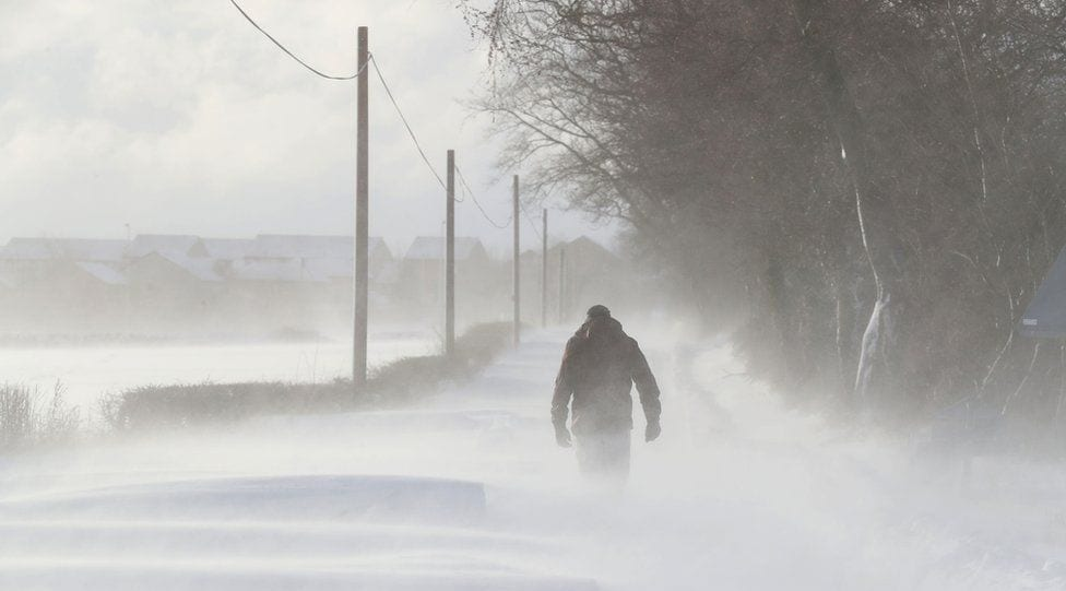 Storm Emma Batters the UK with temperatures falling to -12