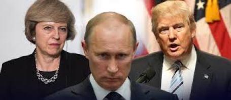 Trump, Putin and Theresa May