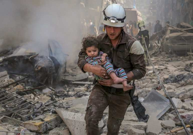 Hats off to White Helmets