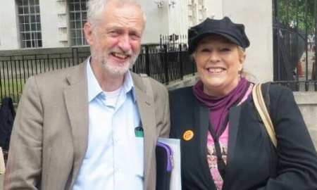 Jeremy Corbyn - Leader of the Labour Party and Yvonne Ridley