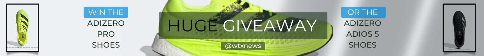 Adizero Adios 5 giveaway to signup for the news Briefing