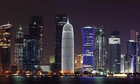 Qatar - Doha at night - stunning landscape of the tiny gulf state