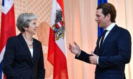 heresa May visit Austria welcomed by Austrian Leader Sebastian Kurz