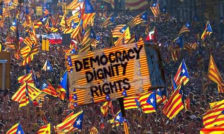 Catalonia Independence one year on - Yvonne Ridley Takes to the streets of Barcelona