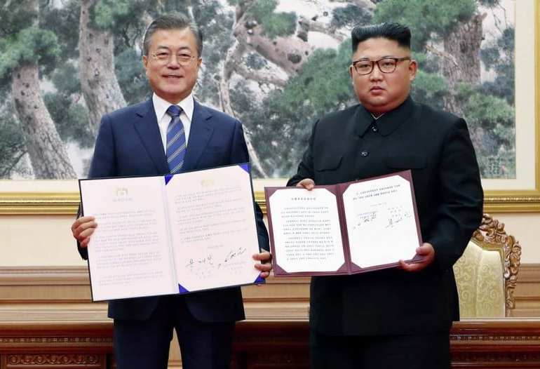 North & South Korea agree to start denuclearisation process