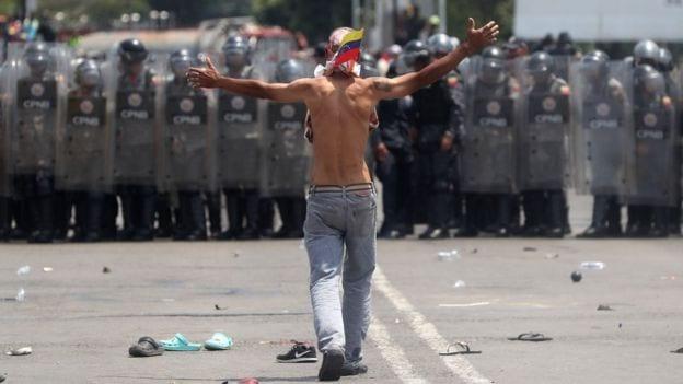 Venezuela's border aid blockade
