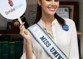 Miss Universe Catriona wearing Dubai based fashion label