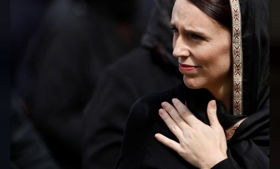 New Zealand Prime Minister Jacinda Ardern led thousands of mourners gathered at a park in front of the Al Noor Mosque
