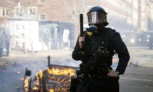 Danish police officer at an Anti Muslim protest