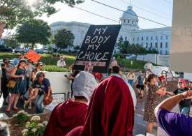 Ducking stool politics in Trump's America as abortion is outlawed in Alabama by men