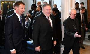 US Secretary of State Mike Pompeo arrives in the UK to lobby for Israel