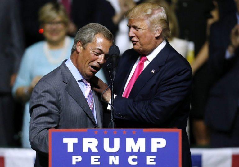 Trump advises UK don't pay the EU, use Farage & walk away - build a wall?