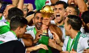 Algeria-trophy-celebrations - winners African cup of Nations 2019