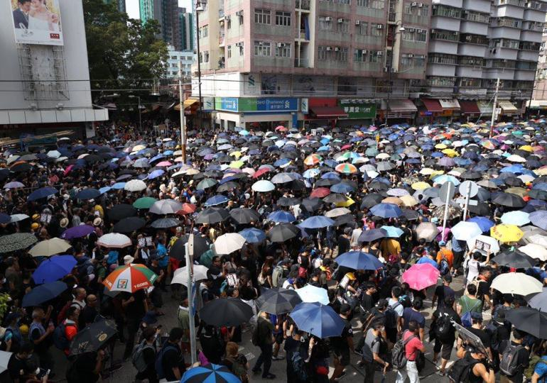 hong kong protesters condemned by chinese government