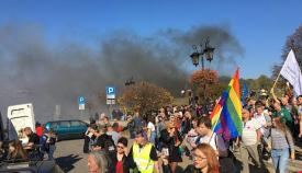 pride parade in polish city is met with violence