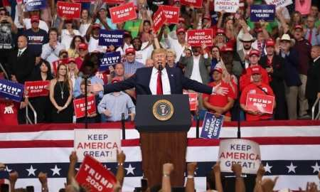 trump unhappy with 'send her back' chants during his rally