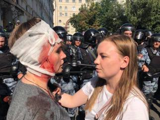 600 arrested in Moscow protests