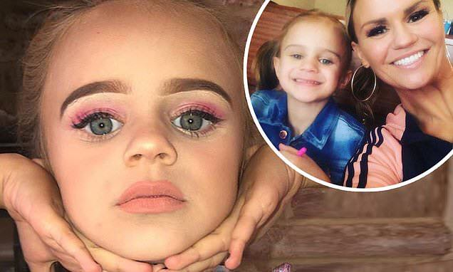 Kerry Katona sparks outrage as daughter rocks full face of makeup