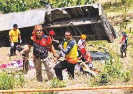 20 killed- inc children as a truck Plummets into a Ravine